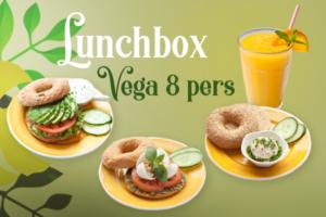 Een vegetarische lunchbox voor 8 personen bestellen voor thuis, onderweg of op kantoor