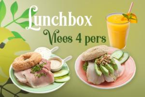 Een lunchbox met vlees voor 4 personen bestellen voor thuis, onderweg of op kantoor